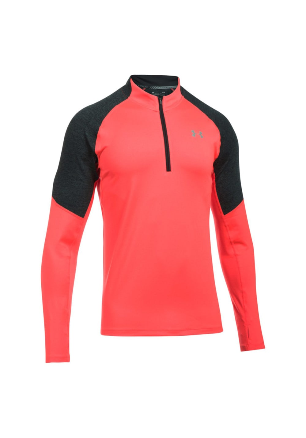 Under Armour Threadborne Run 1/4 Zip - Laufshirts für Herren - Pink, Gr. L