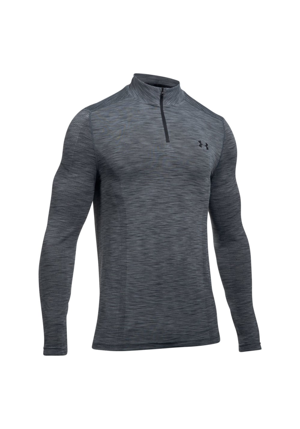 Under Armour Threadborne Seamless 1/4 Zip - Fitnessshirts für Herren - Grau, Gr