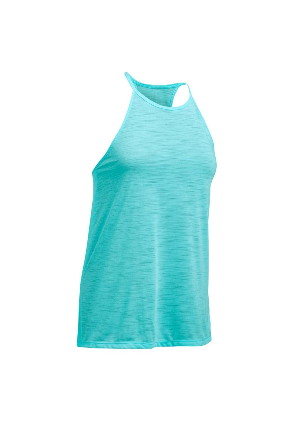Under Armour Threadborne Fashion Tank - Fitnessshirts für Damen - Blau, Gr. M