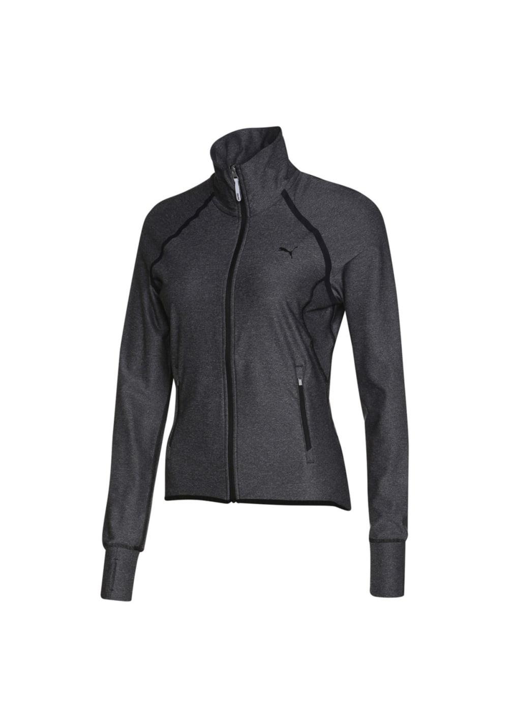 Puma Pwrshape Trainingsjacke - Laufshirts für Damen - Grau, Gr. L