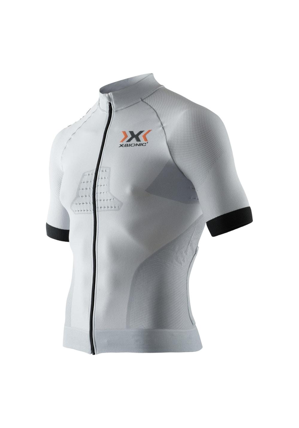 X-Bionic Race Evo Biking Shirt - Radtrikots für Herren - Weiß, Gr. L