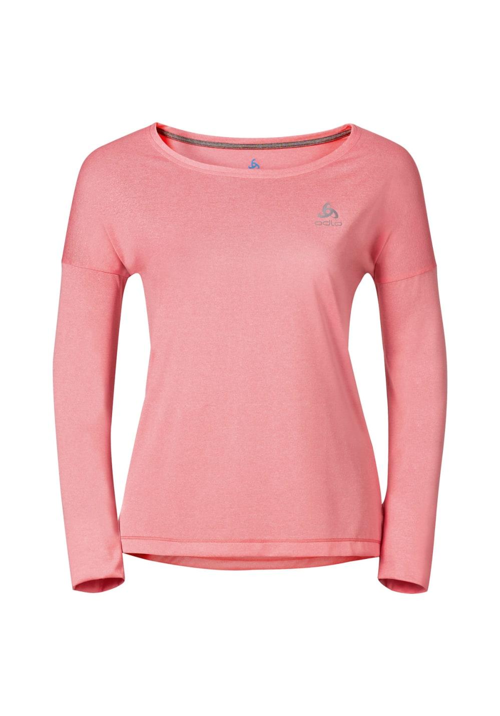 Odlo T-Shirt Long Sleeve Tebe - Laufshirts für Damen - Pink, Gr. S