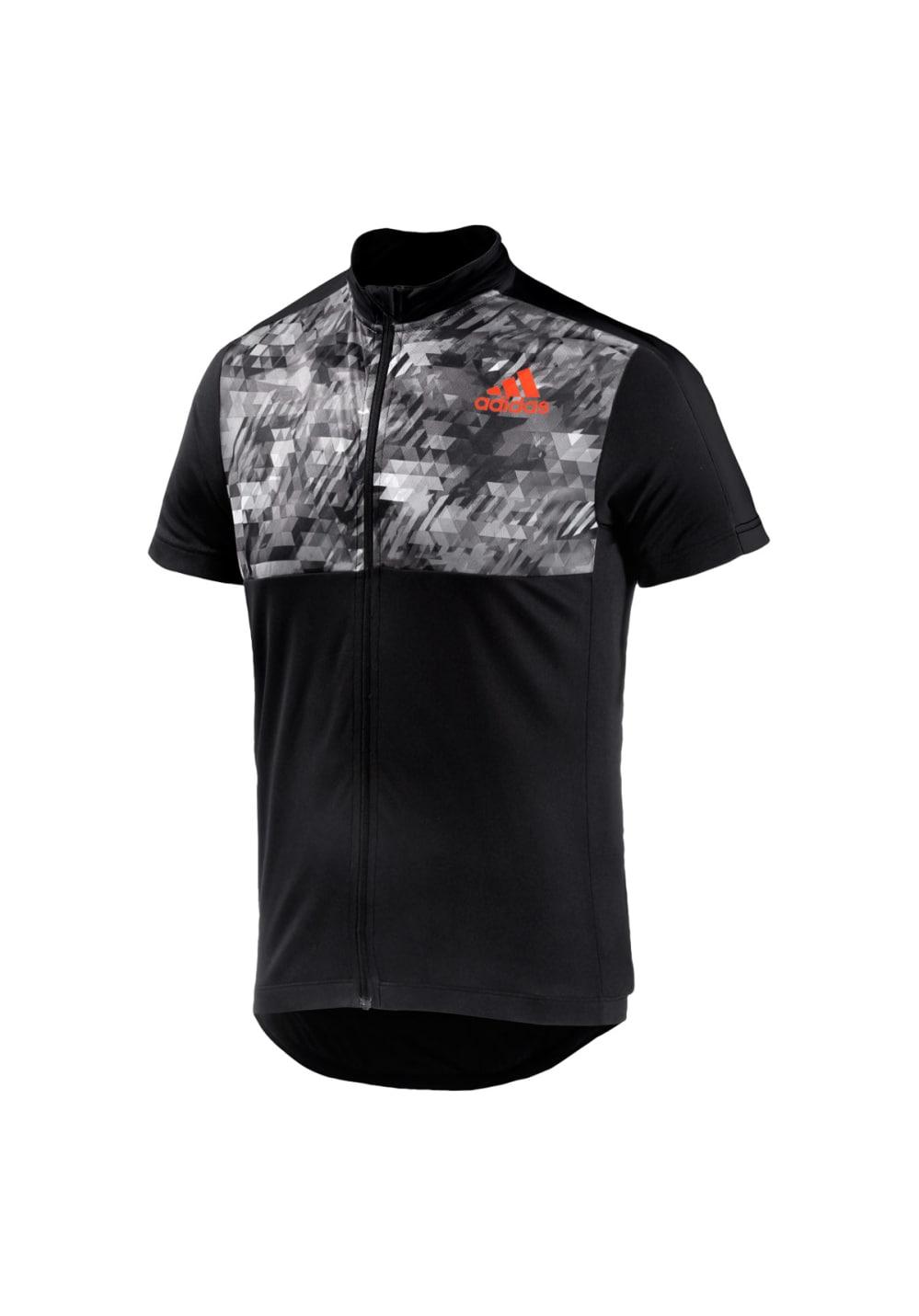 adidas Trail Race Short Sleeve Jersey - Radtrikots für Herren - Schwarz, Gr. XL