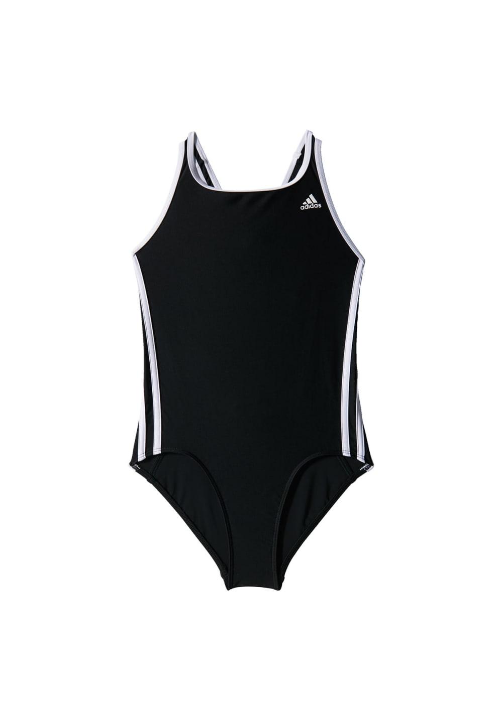 adidas Inf 3S Suit Girls - Schwimmen für Kinder Unisex - Rot, Gr. 116