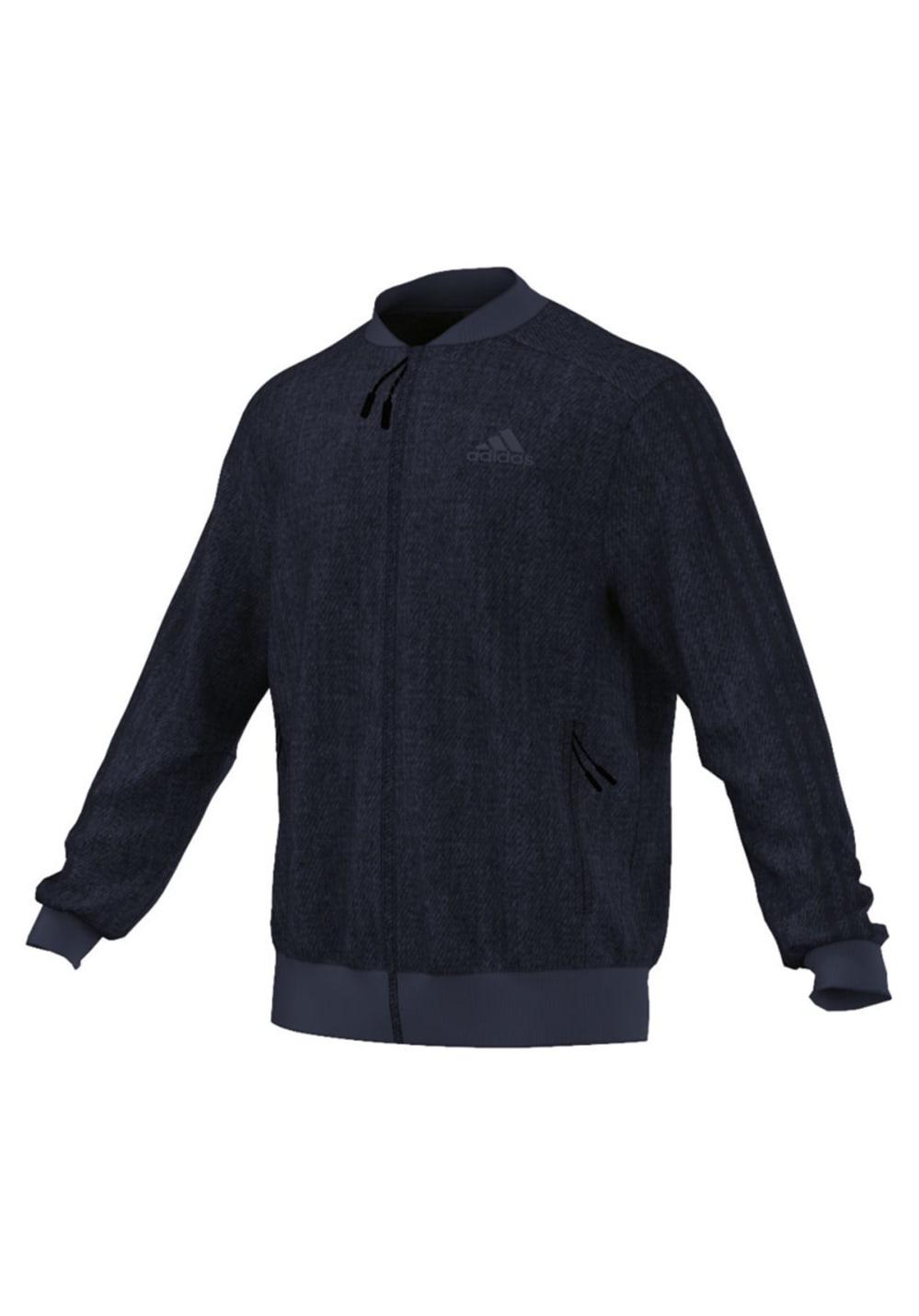 Artikel klicken und genauer betrachten! - Adidas Denim American Sports Jacke Diese robuste Jacke für Männer im Denim-Look ist eine sportliche Neuinterpretation eines klassischen Styles. mit ihrem durchgehenden Reißverschluss, Rippkragen, gerippten Bündchen und geripptem Saum bleibt Wärme drinnen und Kälte draußen. Reißverschlusstaschen gewähren einfachen Zugriff auf alles, was man so braucht. seitliche Reißverschlusstaschen Durchgehender Reißverschluss; Rippkragen; Bündchen und Saum gerippt Ton in Ton gehaltene 3-Streifen an den Ärmeln Reguläre Passform Maschinenwaschbar bei 30 °C, bei niedriger Temperatur im Trockner trocknen und bügeln, nicht über Das Logo bügeln und nicht chemisch reinigen! 82 % Baumwolle / 18 % Polyester (Doppelstrick) -seitliche Reißverschlusstaschen -Durchgehender Reißverschluss; Rippkragen; Bündchen und Saum gerippt -Ton in Ton gehaltene 3-Streifen an den Ärmeln -Reguläre Passform -Maschinenwaschbar bei 30°C, bei niedriger Temperatur im Trockner trocknen und bügeln, nicht über Das Logo bügeln und nicht chemisch reinigen! -82 % Baumwolle / 18 % Polyester (Doppelstrick) | im Online Shop kaufen