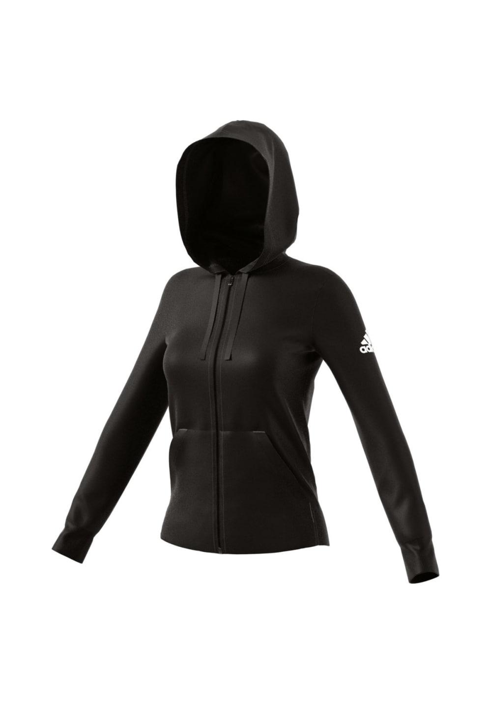 adidas Essentials Solid Fullzip Hoodie - Sweatshirts & Hoodies für Damen - Schwarz
