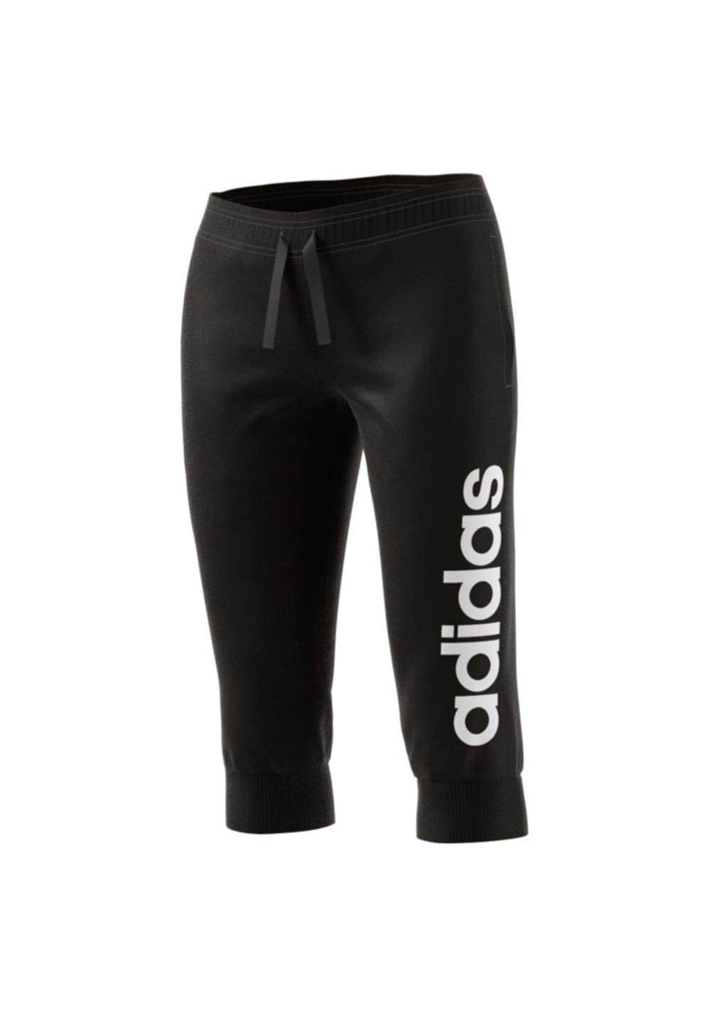 adidas Essentials Linear 3/4 Pant - Laufhosen für Damen - Schwarz, Gr. S