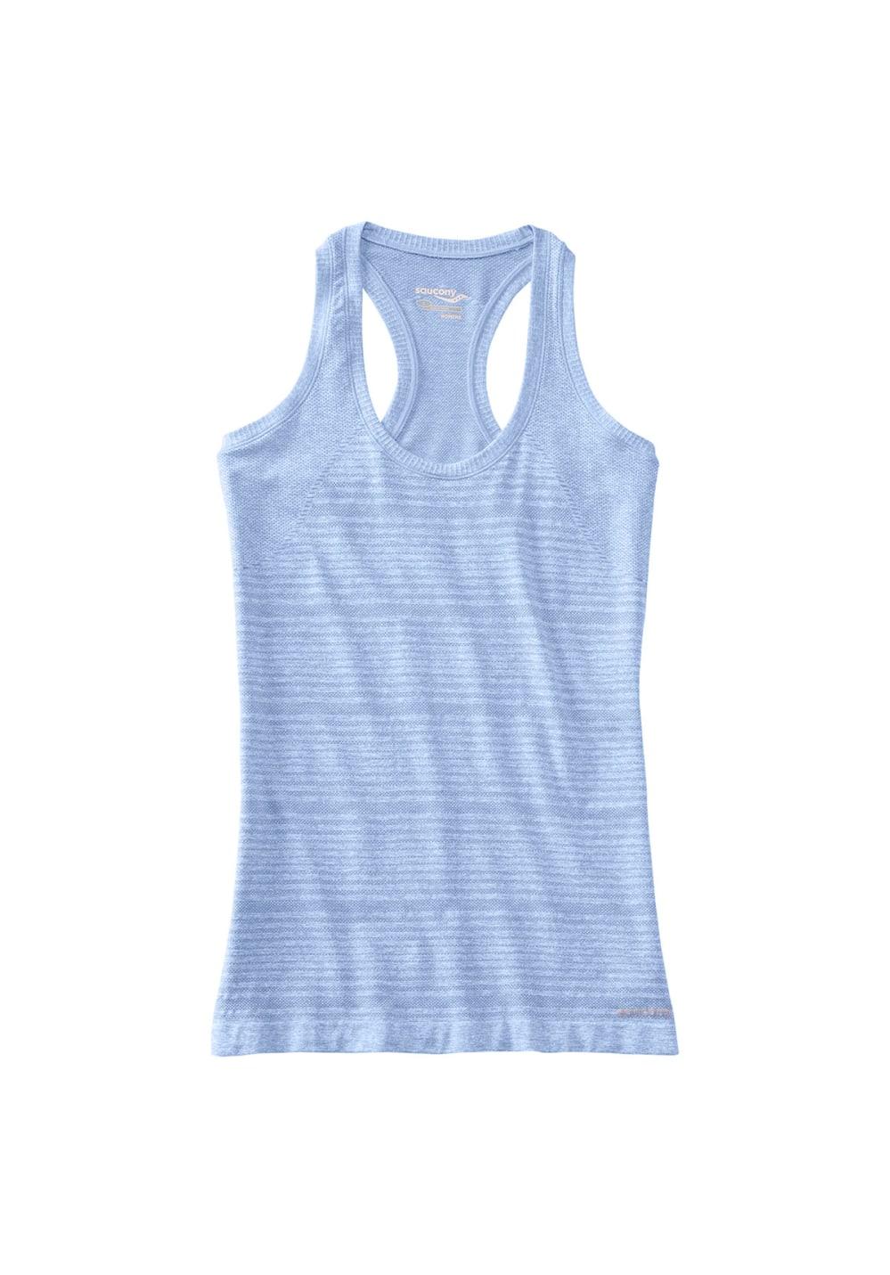 Saucony Dash Seamless Tank - Laufshirts für Damen - Blau, Gr. L
