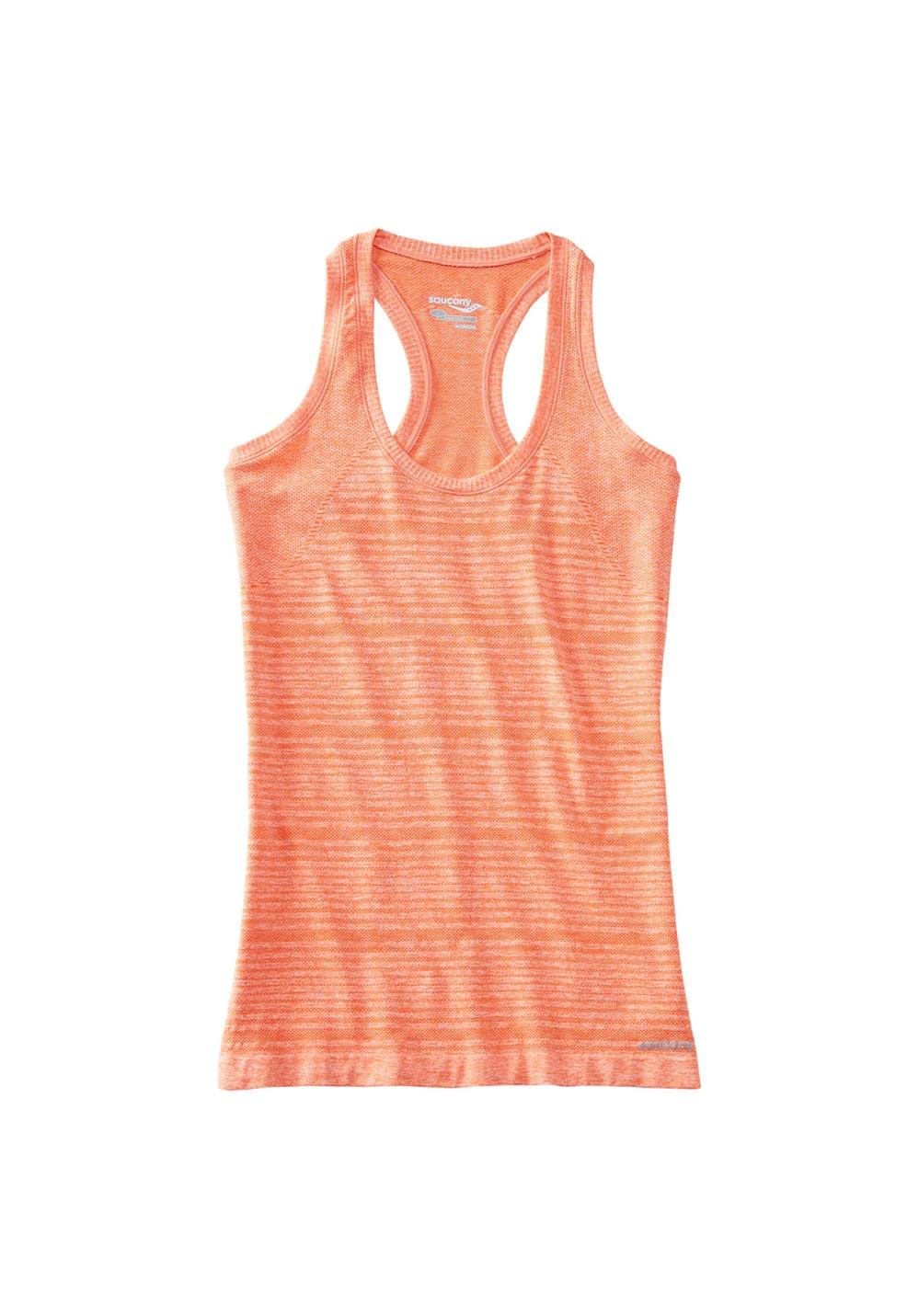 Saucony Dash Seamless Tank - Laufshirts für Damen - Orange, Gr. M