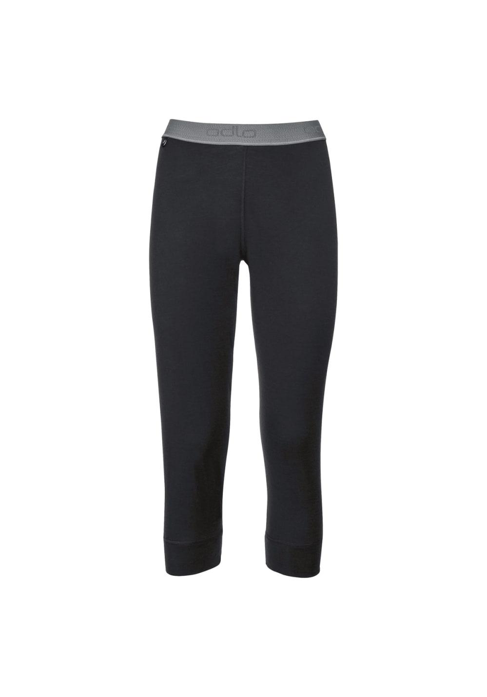 Odlo Pants 3/4 Natural Merino Warm - Funktionsunterwäsche für Damen - Schwarz,