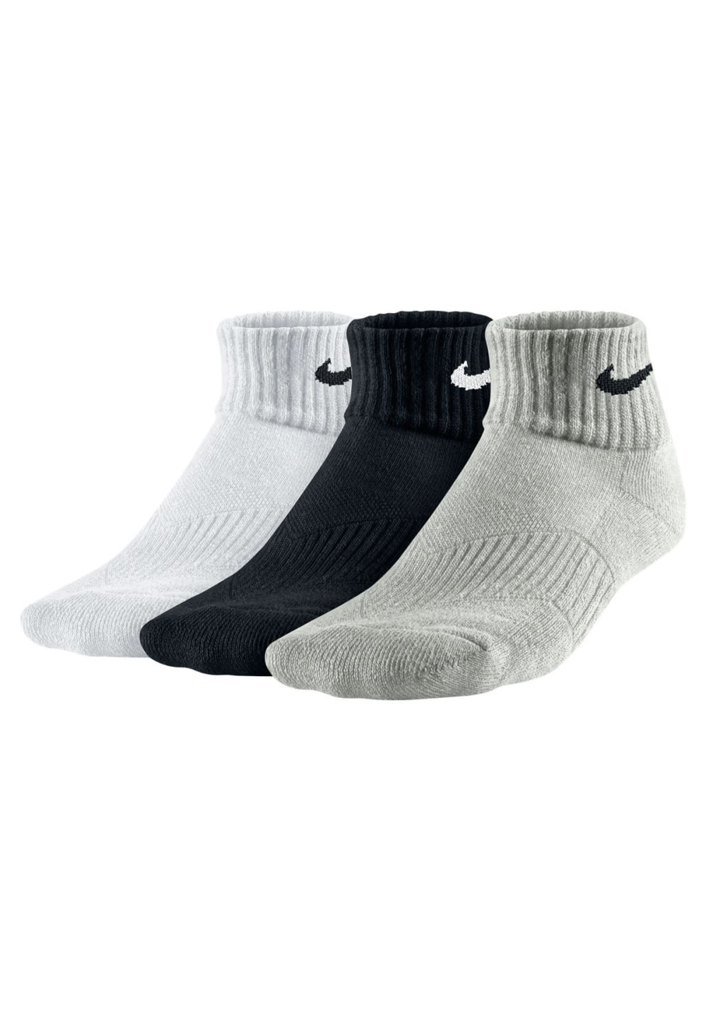 Nike Performance Cushion Quater Socks 3 PPK Laufsocken Kinder 34–38, Gr. 34–