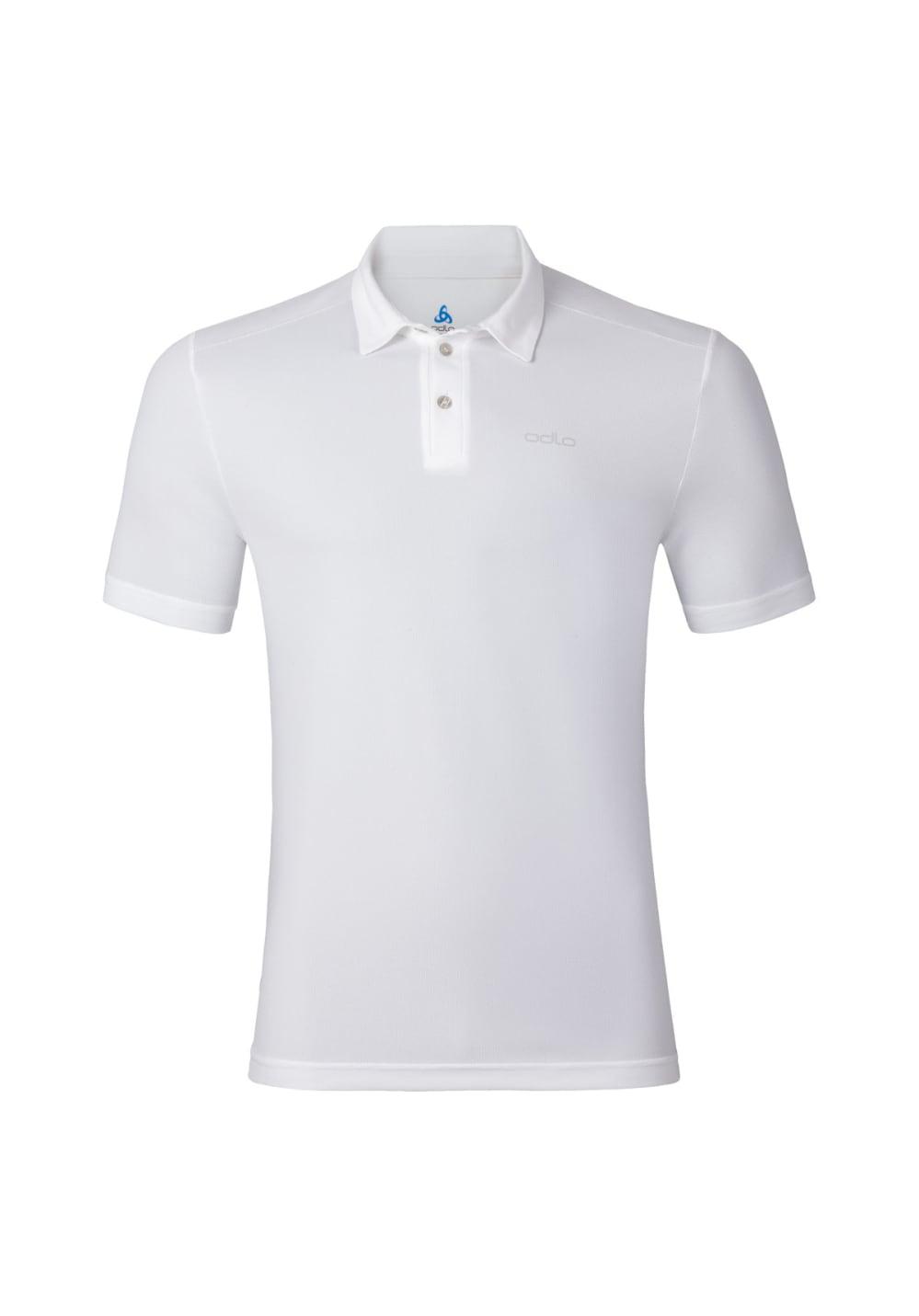 Odlo Polo Shirt Short Sleeve Peter - Laufshirts für Herren - Weiß, Gr. S