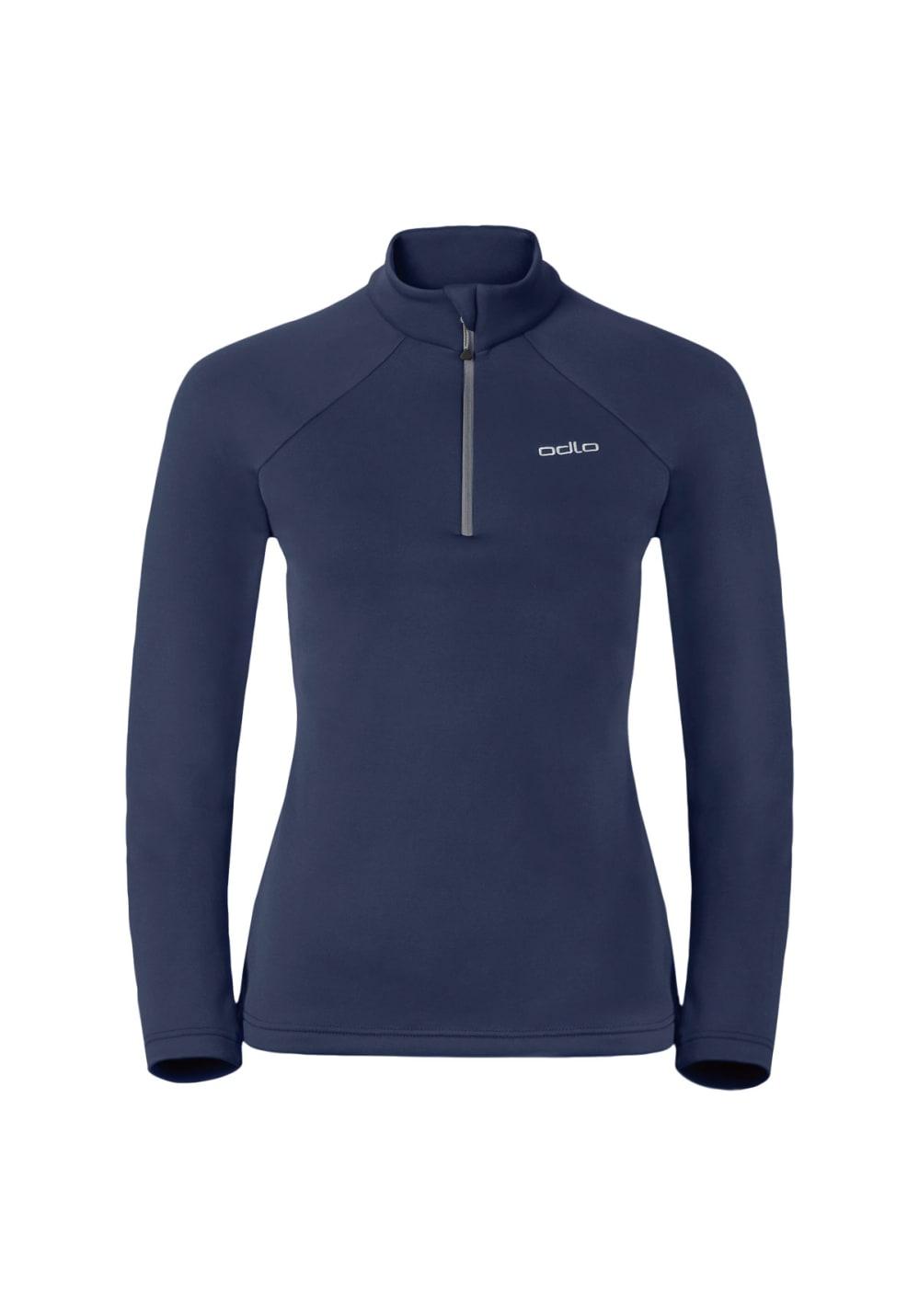 Odlo Midlayer 1/2 Zip Snowbird - Laufshirts für Damen - Blau, Gr. XL