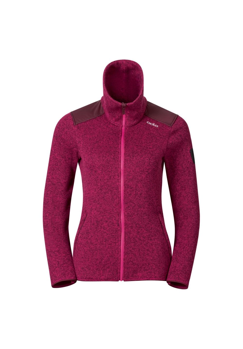 Odlo Midlayer Full Zip Lucma X - Laufshirts für Damen - Pink, Gr. S