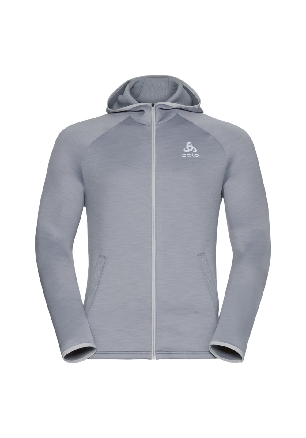 Odlo Hoody Midlayer Full Zip Pulse - Sweatshirts & Hoodies für Herren - Grau, G