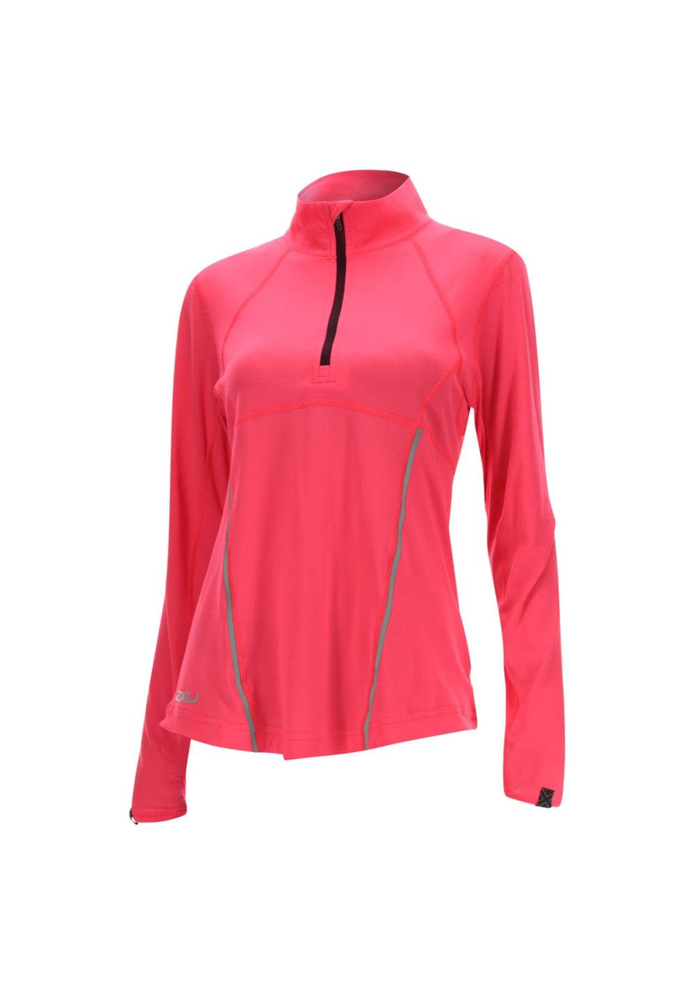 2XU Thermal Active 1/4 Zip - Laufshirts für Damen - Rot, Gr. S