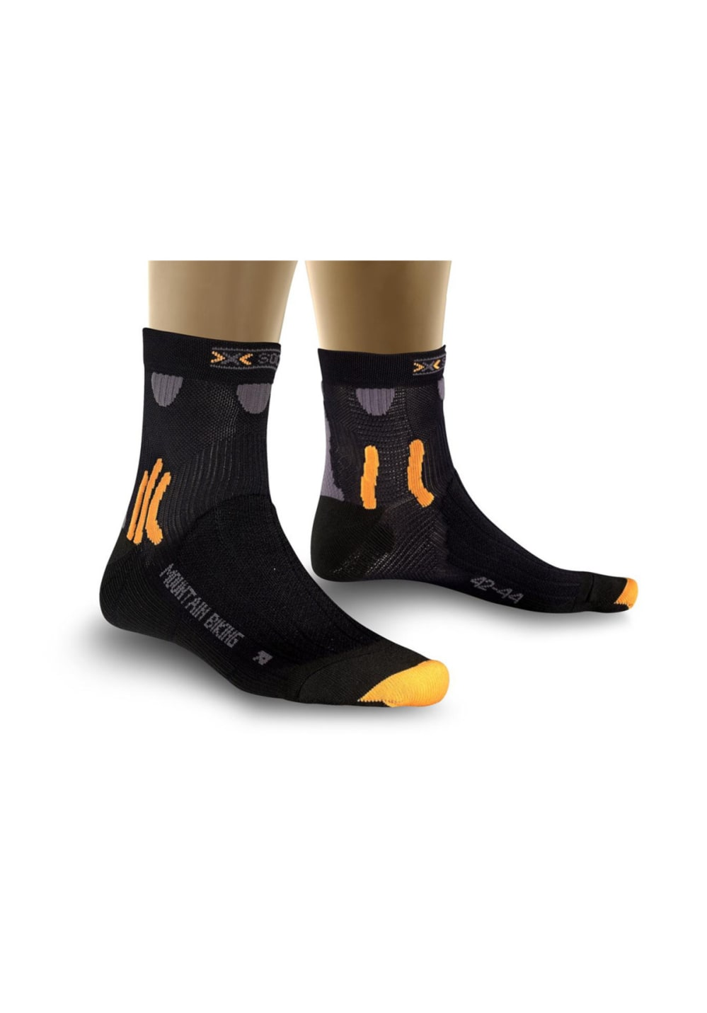 X-Socks Mountain Biking Black Laufsocken - Schwarz, Gr. 35-38
