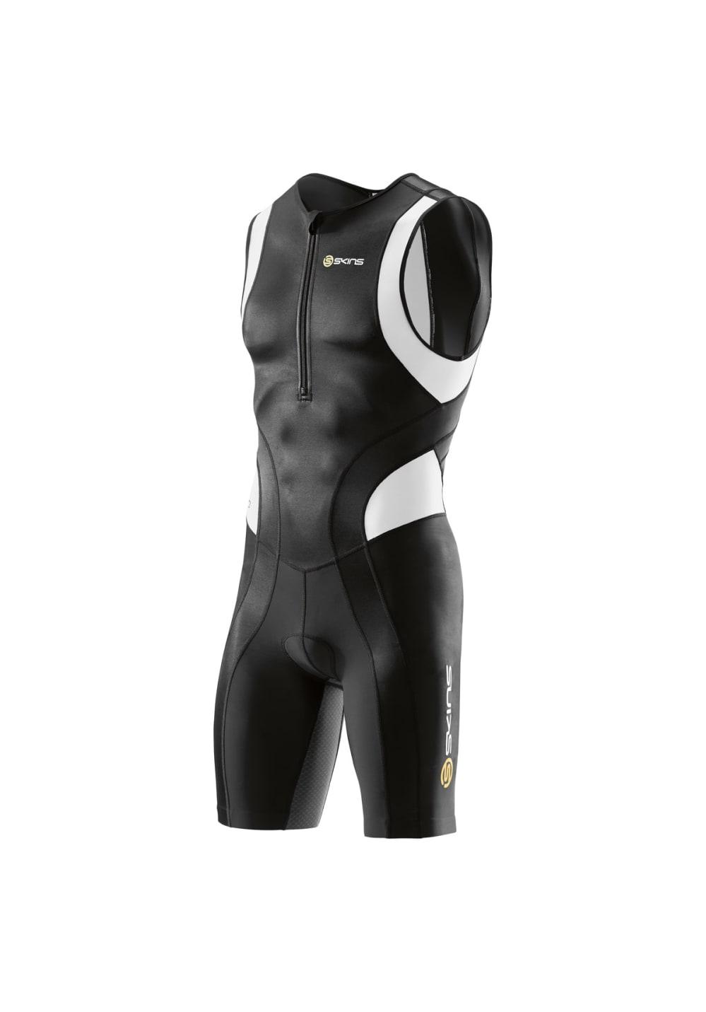 Skins Tri 400 Mens Skinsuit Front Zip - Triathlon für Herren - Schwarz, Gr. S