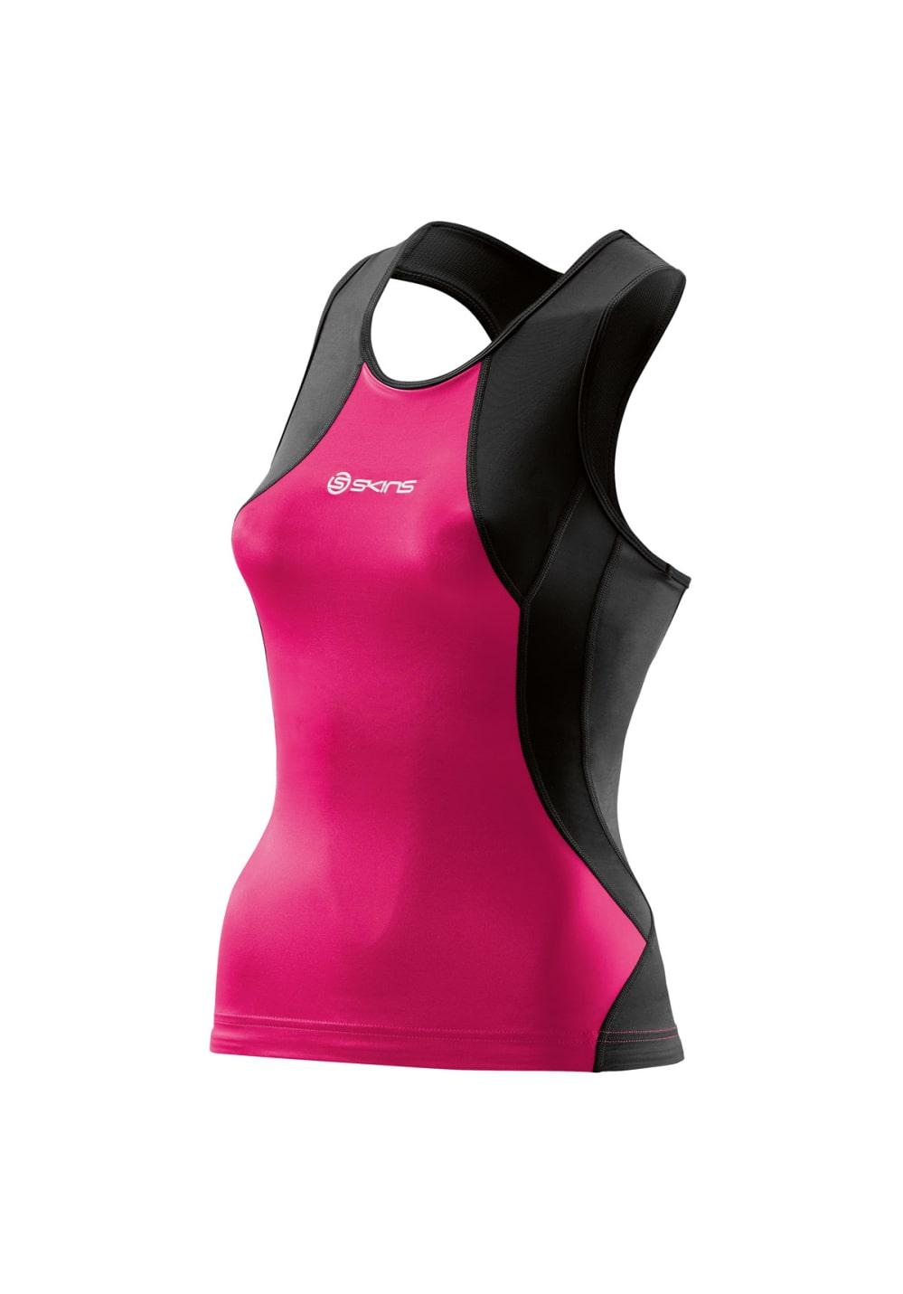 Skins Tri 400 Racer Back Top - Laufshirts für Damen - Pink, Gr. FS