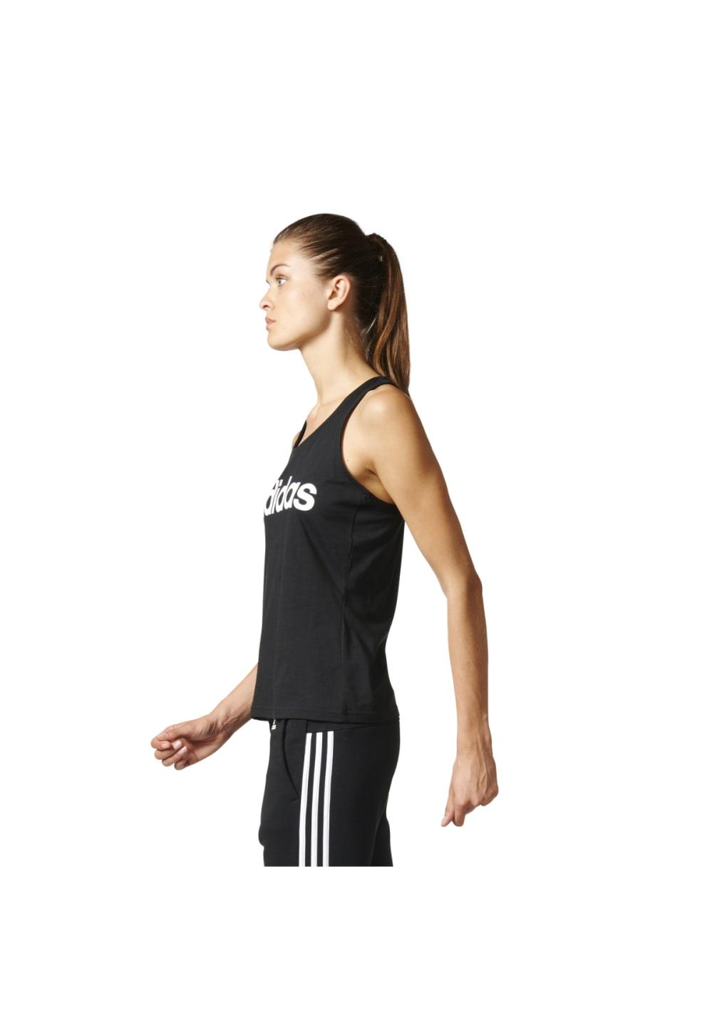 5b033a9f6fe adidas Essentials Linear Slim Tank - Running tops for Women - Black ...