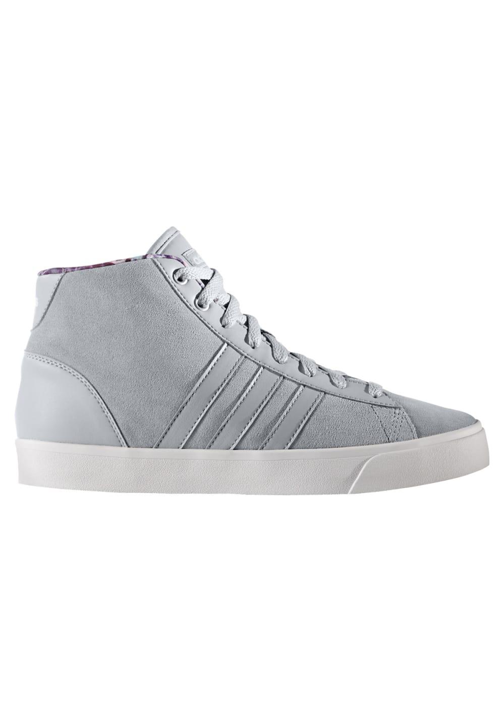 Cheap Adidas Neo Cloudfoam Daily QT Mid Womens Shoes Grey