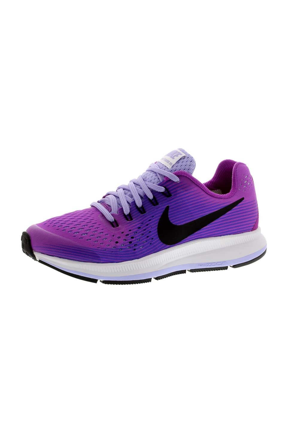 Nike Zoom Pegasus 34 GS Girls Chaussures running Violet