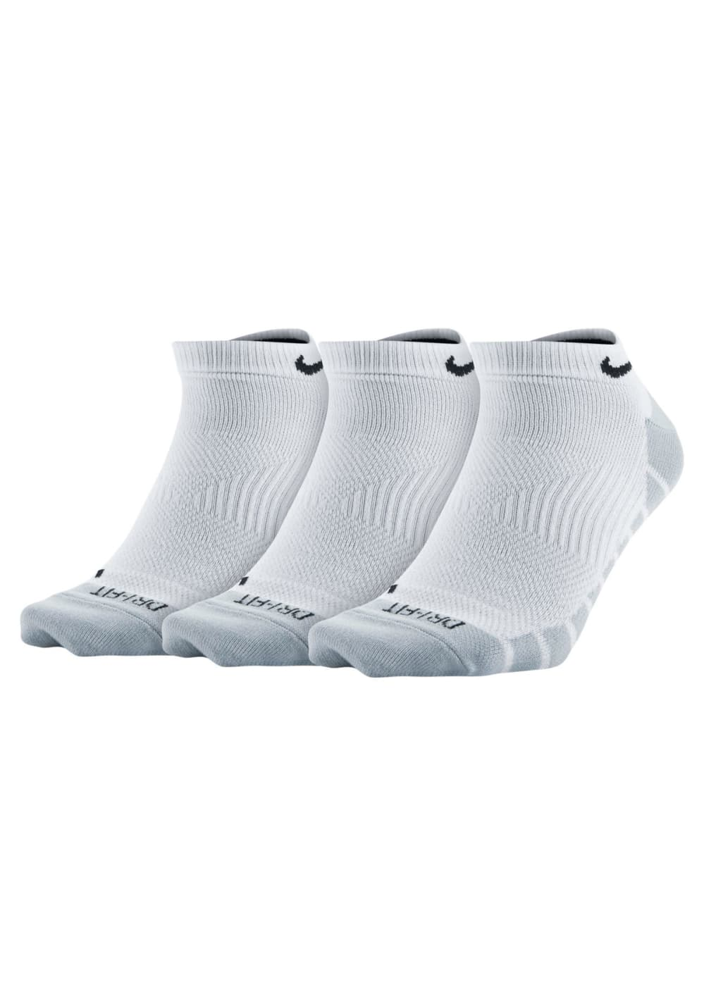 the latest best shoes various styles Nike Lightweight No-Show Training Sock 3 Pair - Running socks - White