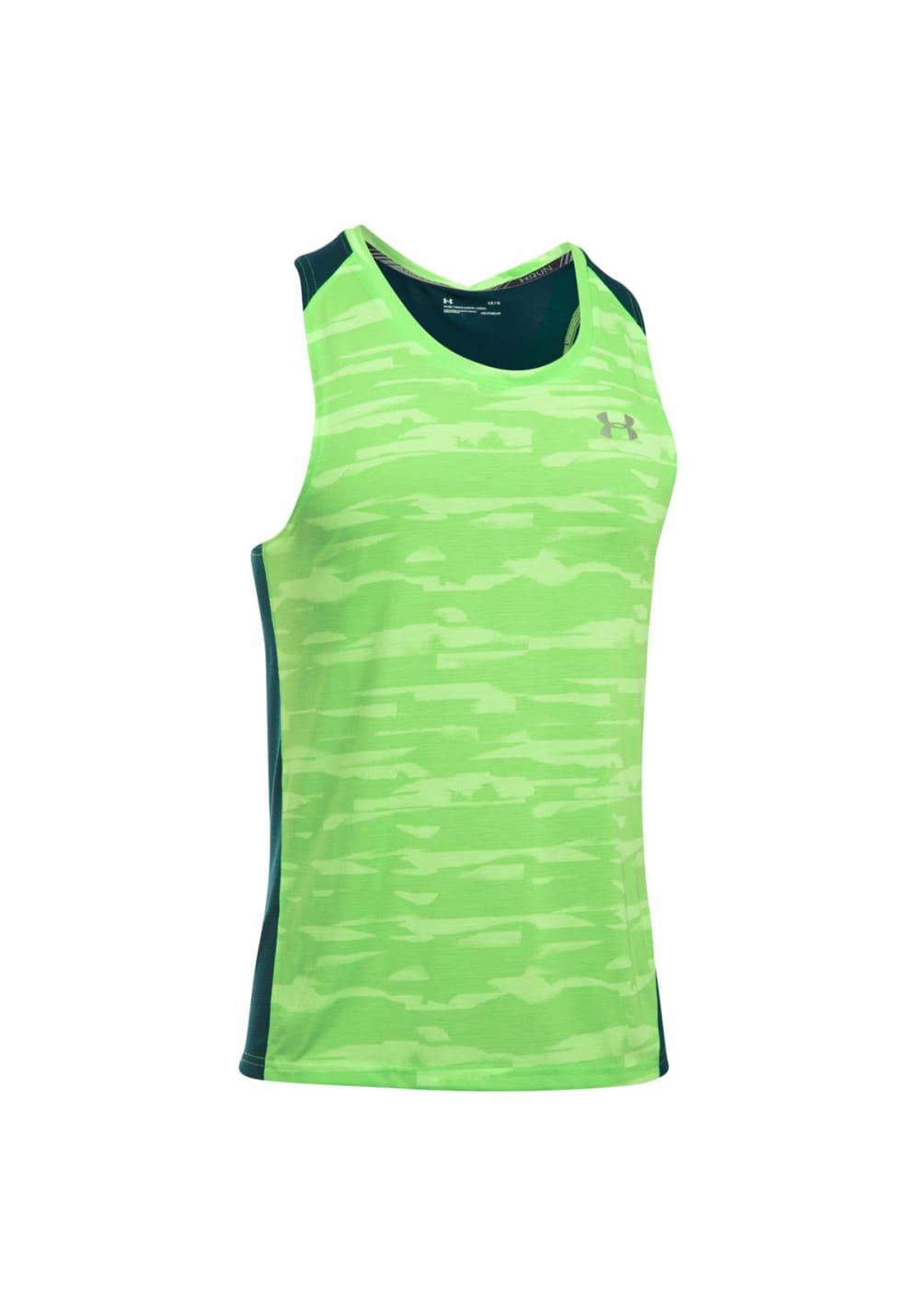 952ce928 Under Armour Threadborne Run Mesh Singlet - Running tops for Men - Green