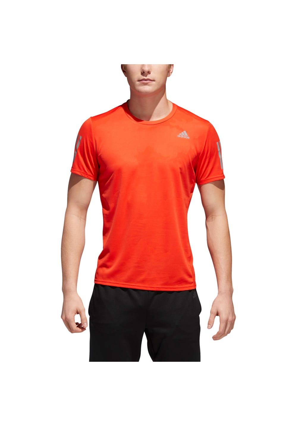 474338a498b7f adidas Response Short Sleeve Tee Men - Running tops for Men - Orange ...