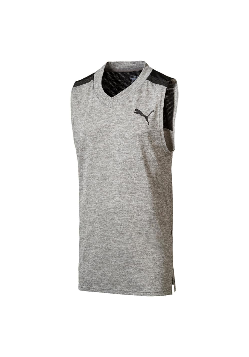 4bf1a18531aa37 Puma BND Tech SLVS Tee - Running tops for Men - Grey | 21RUN