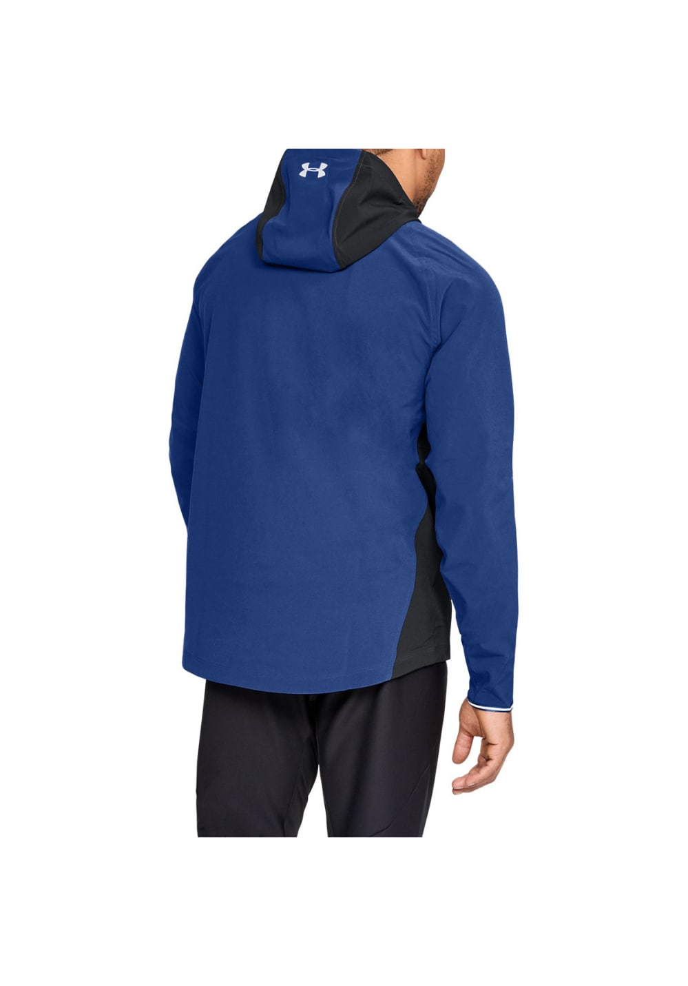 Clothing & Accessories Under Armour Outrun The Storm Mens Running Jacket Blue