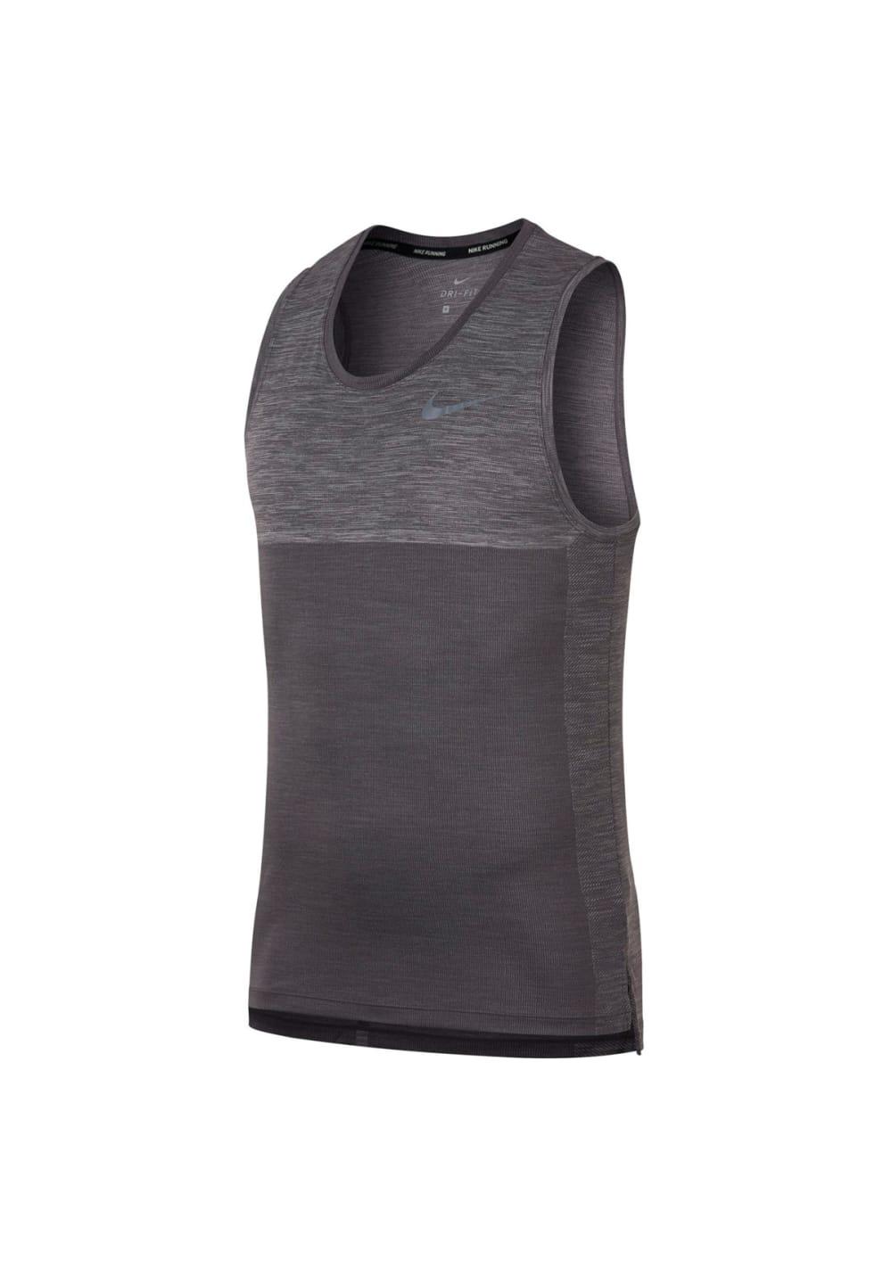 Nike Dry Medalist Running Tank Laufshirts für Herren Grau