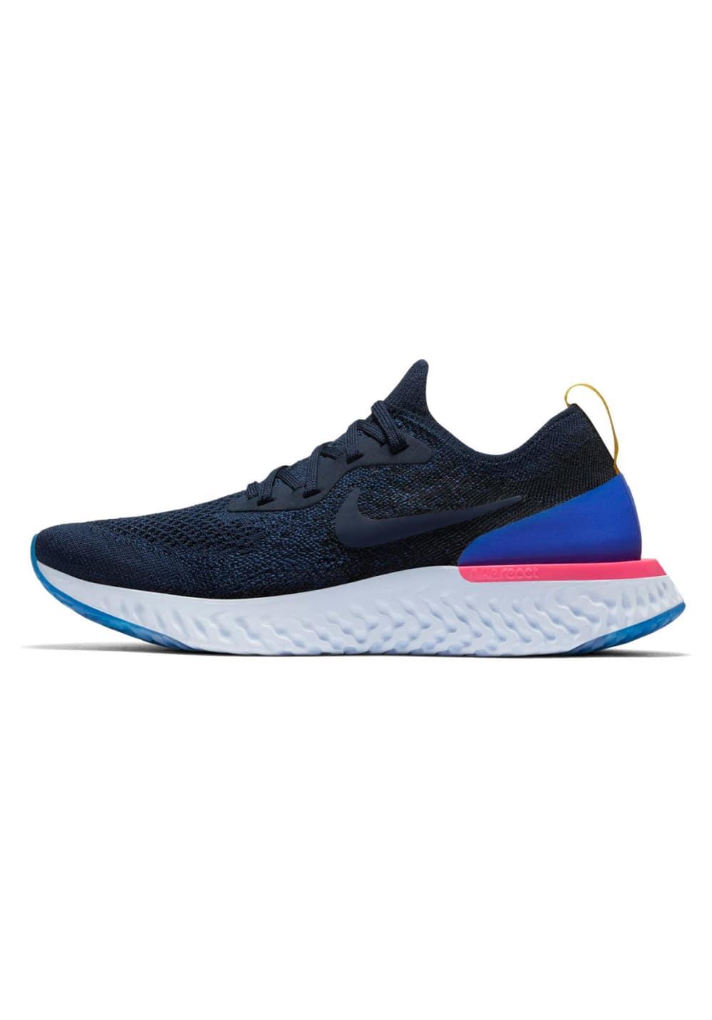 Nike Epic React Flyknit - Laufschuhe für Damen - Blau