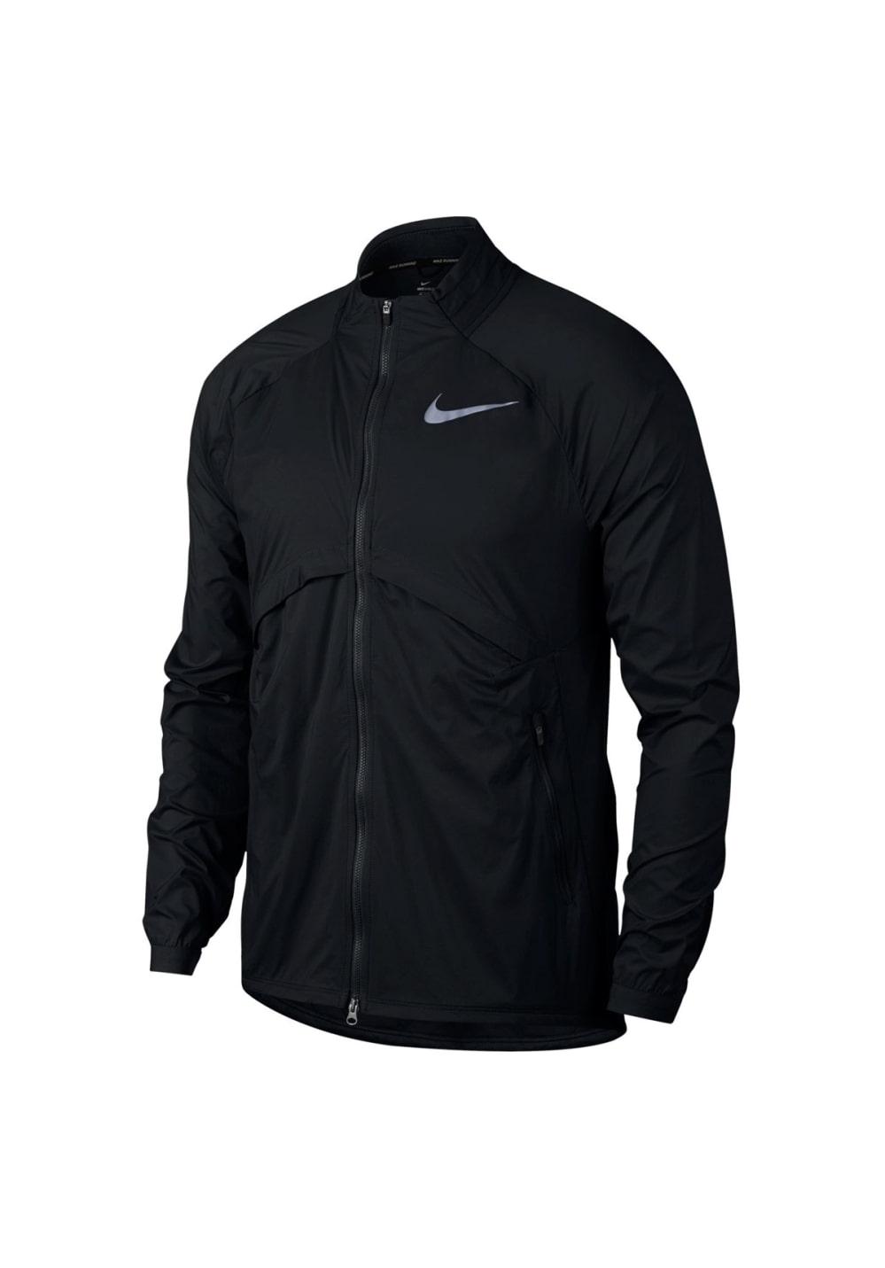 Nike Shield Convertible Running Jacket Laufjacken für Herren Schwarz