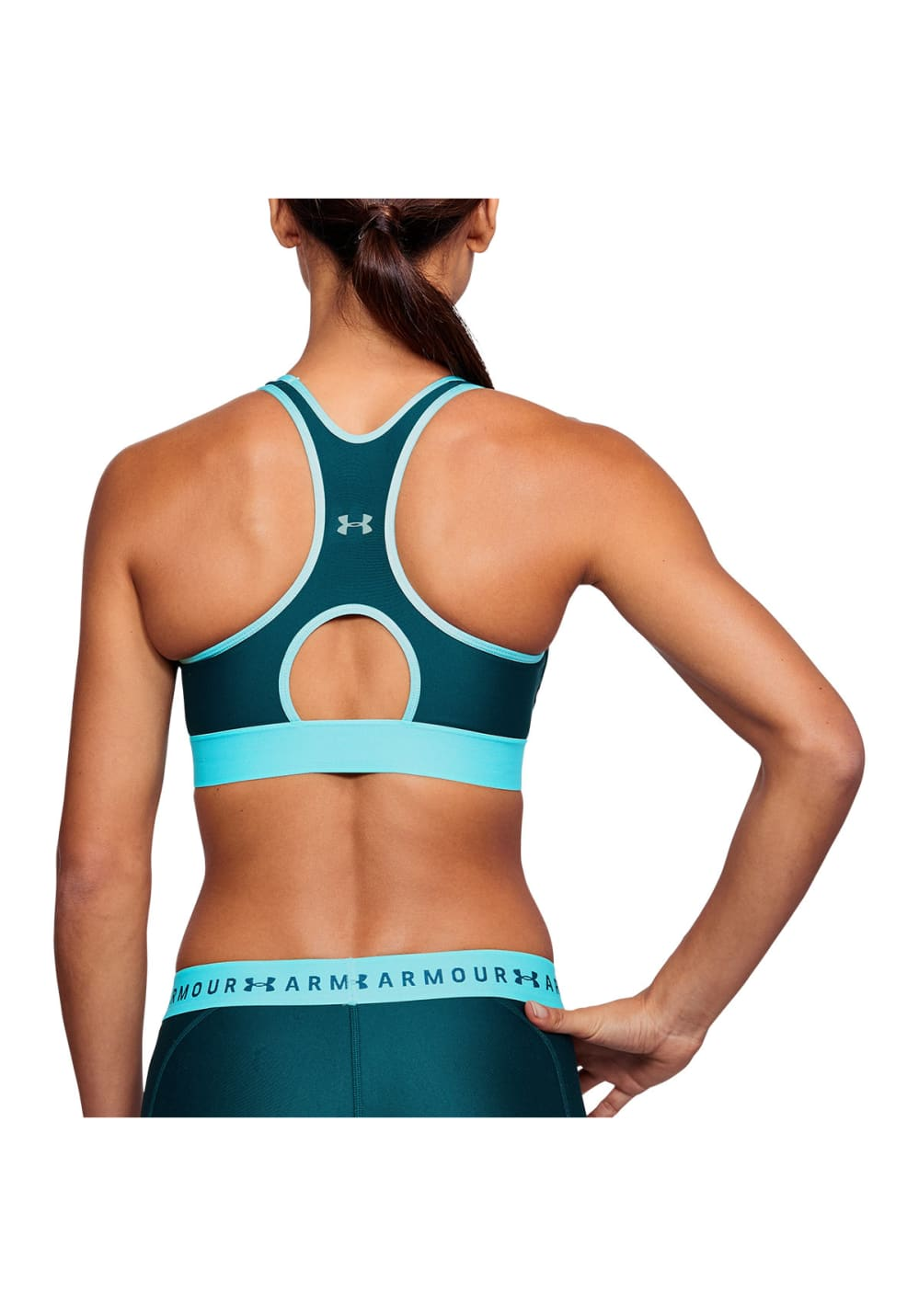 a61297dd28cbb Next. This product is currently out of stock. Under Armour. Armour Mid  Keyhole Big Logo - Sport Bras ...