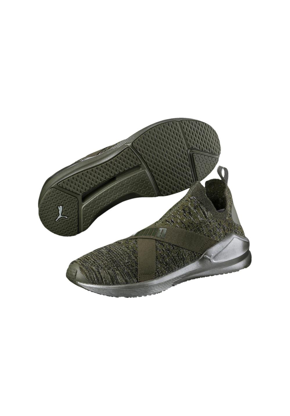 zapatillas puma de mujer verde