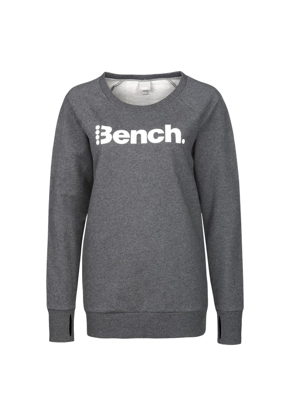 0e16fe0c6 Bench Heritage Long Logo Crew Neck - Sweatshirts / Hoodies for Women - Grey