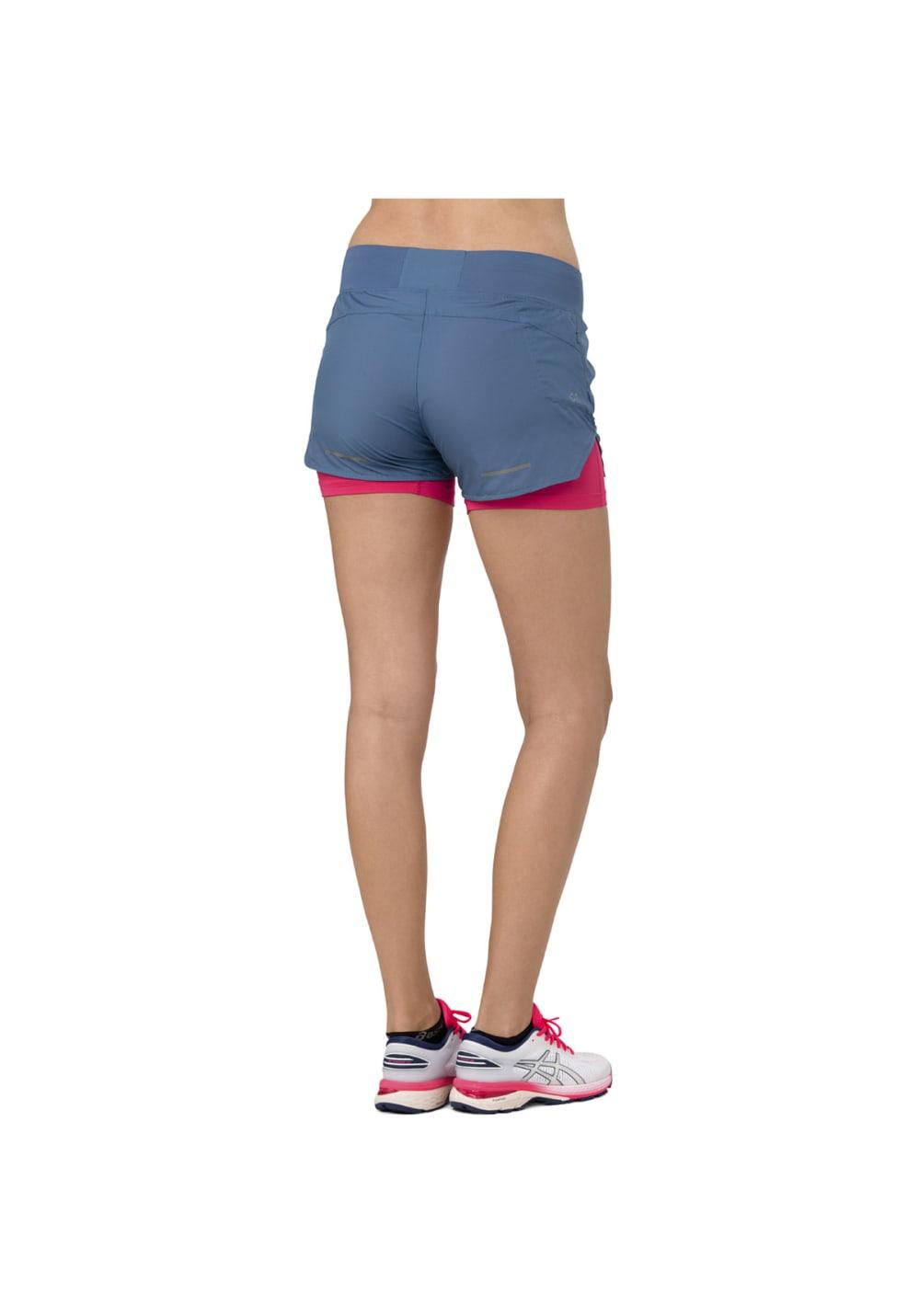 51bd65870b ASICS Cool 2-N-1 3.5In Short - Running trousers for Women - Blue