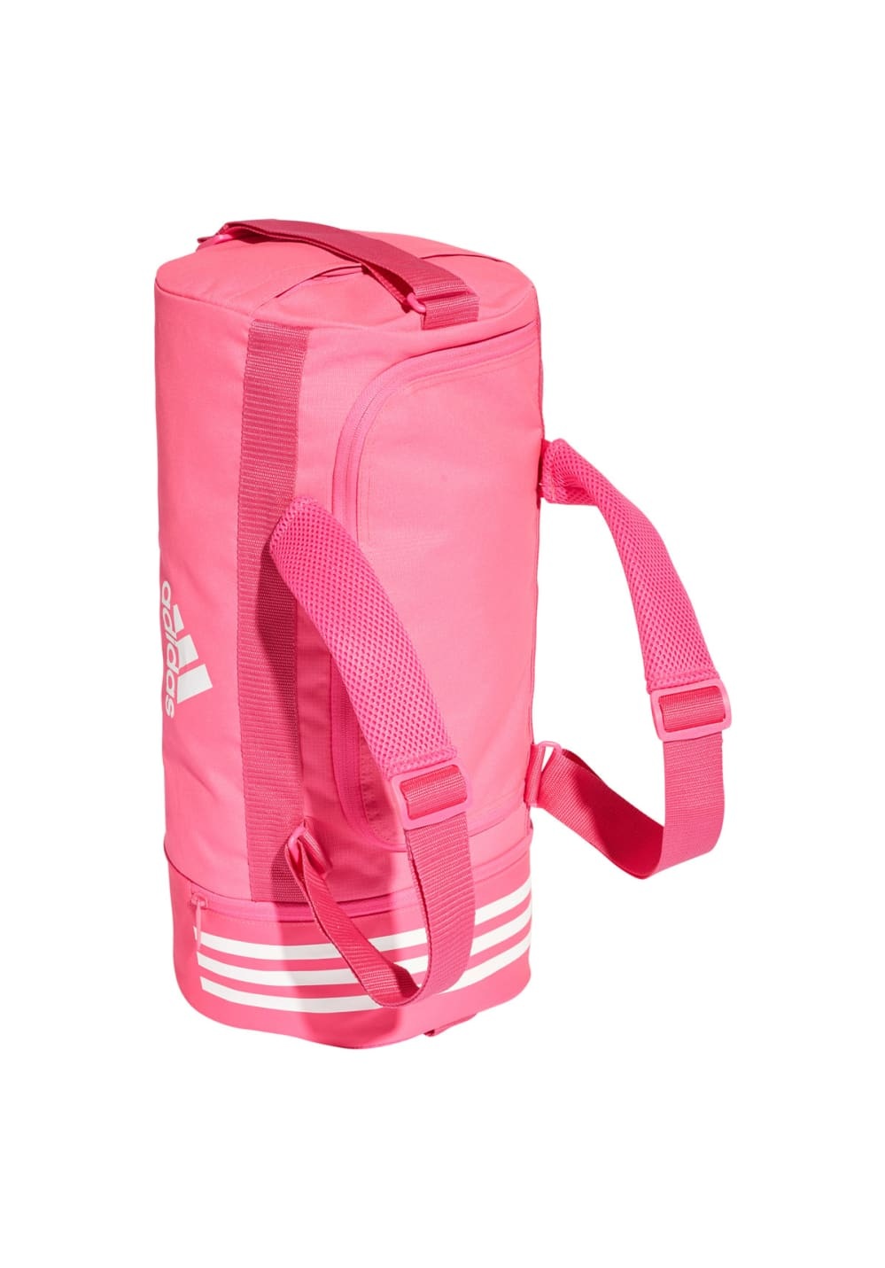 b8b7bbf43 adidas Convertible 3-Stripes Duffel Bag Small - Sports bags - Pink ...