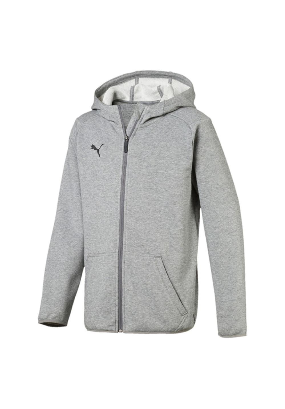 Puma Liga Casual Long Sleeve Hoody Jacket Jr - Running jackets ... 0e97a7cb76