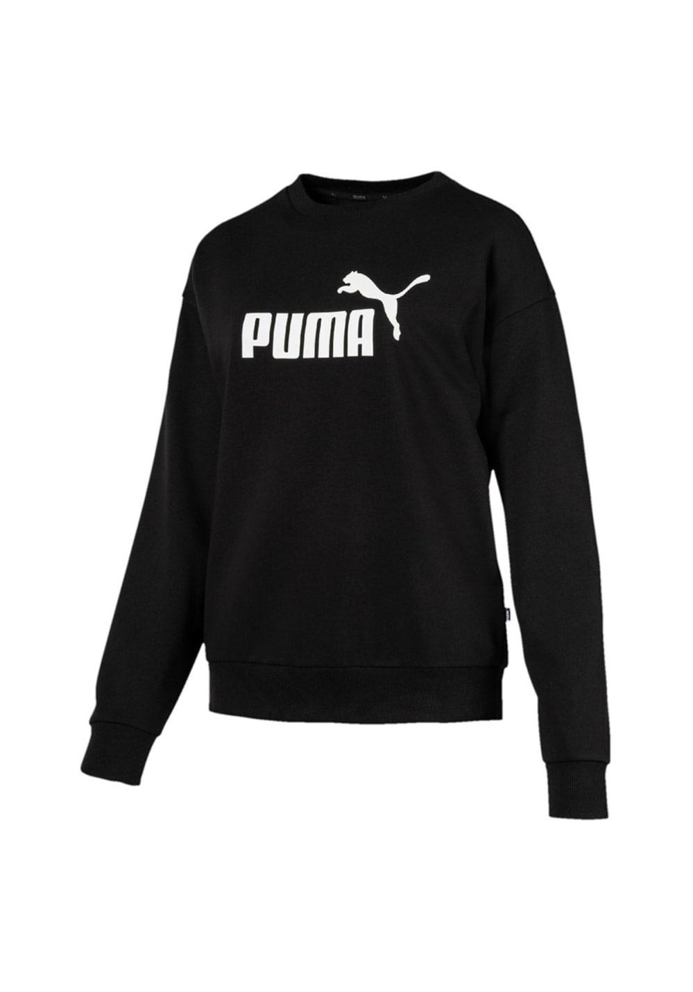3ca642d9b2 Puma Essential Logo Crew Sweat TR - Sweatshirts / Hoodies for Women - Black