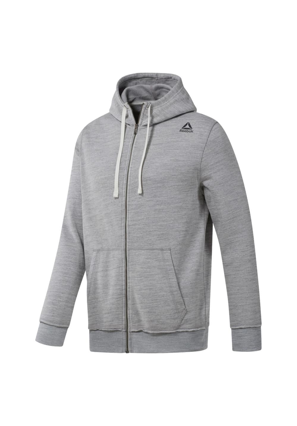 57ef2dc369 Reebok EL MARBLE GROUP FZ - Running jackets for Men - Grey