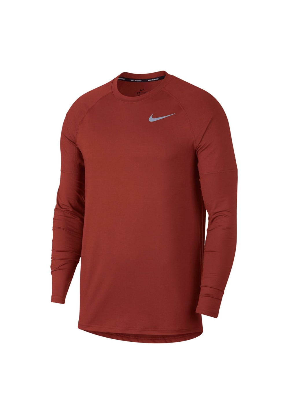65f1afbb Nike Element Longsleeeve Running Crew - Running tops for Men - Red ...
