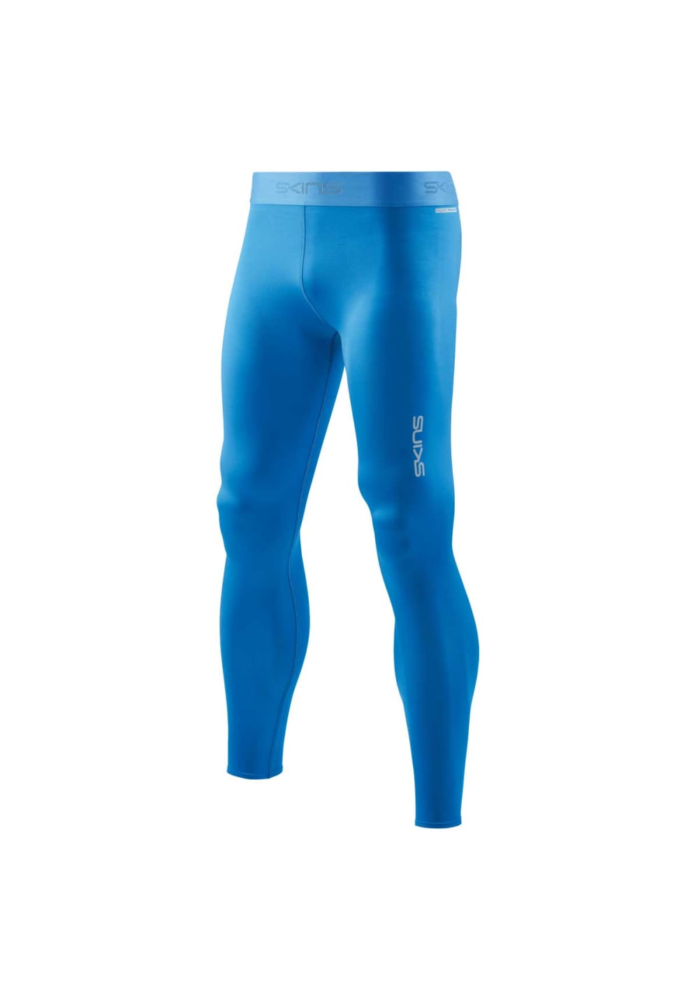 Skins DNAmic Mens Long Compression Tights Blue
