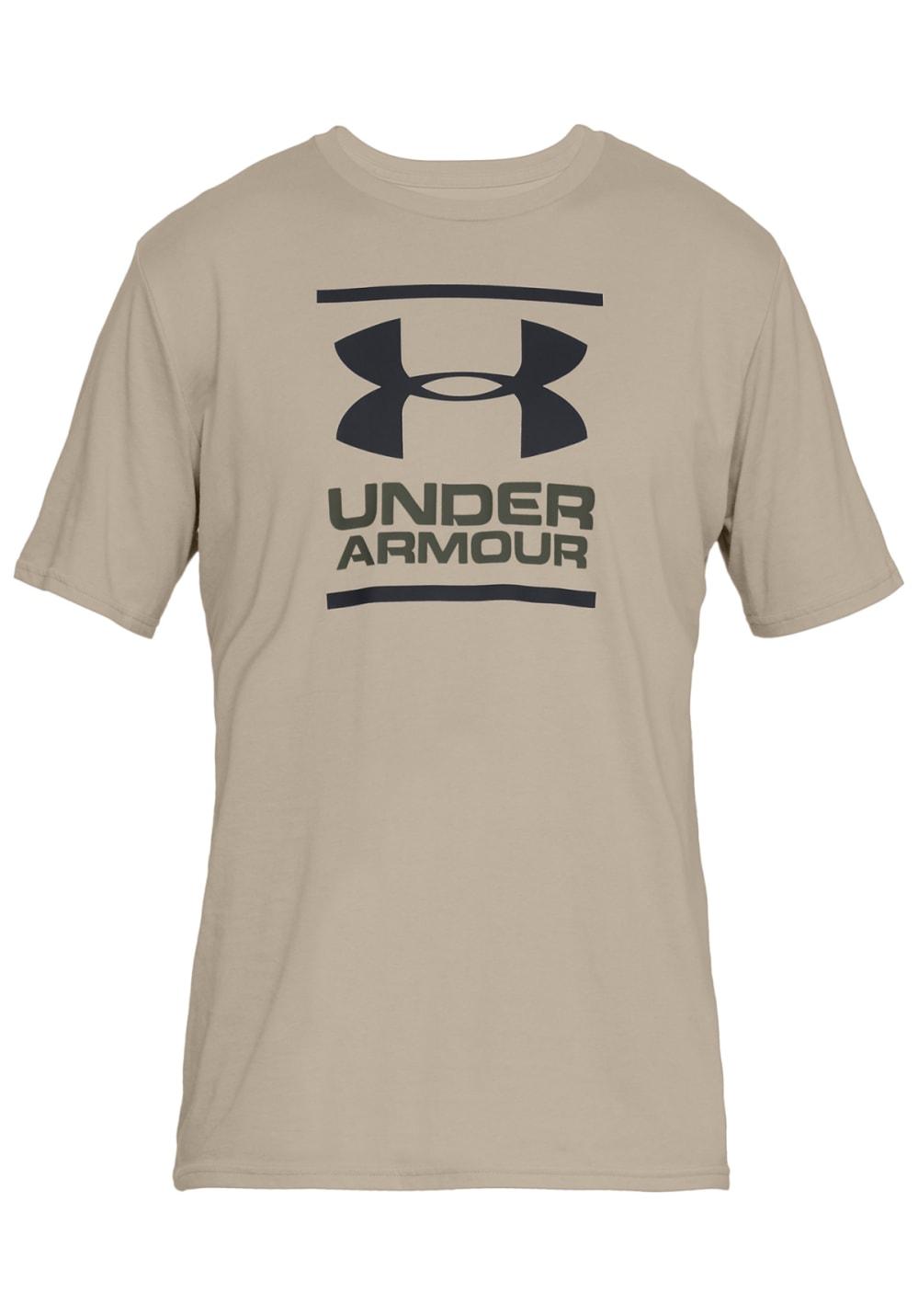 ddafcf81 Under Armour Gl Foundation Short Sleeve Tee - T-Shirts for Men - Beige