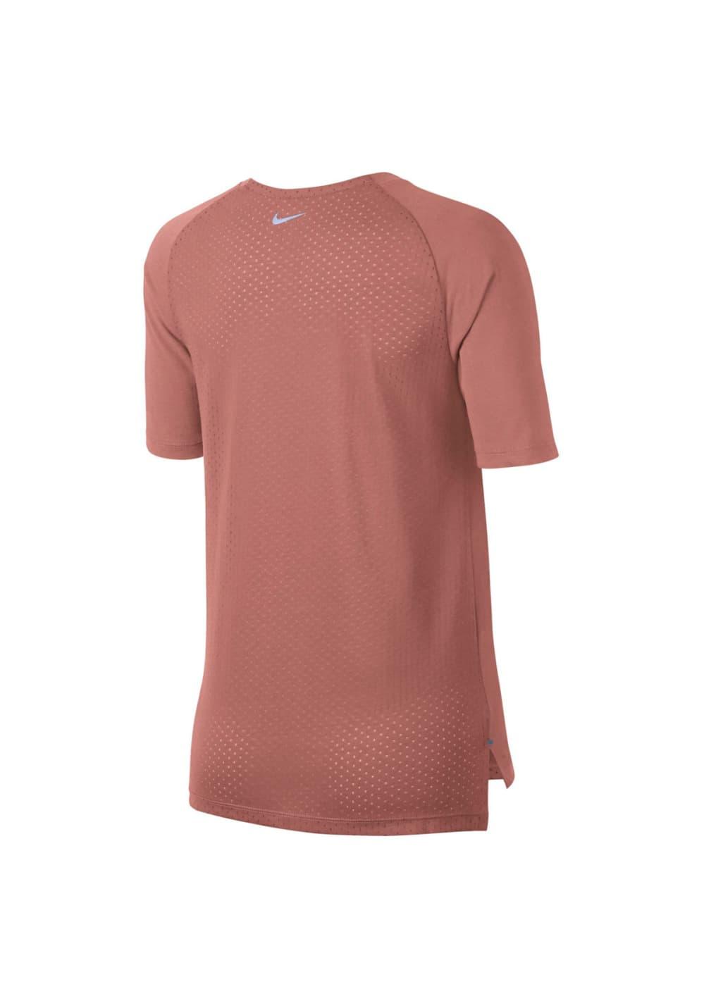 Nike Tailwind Short Sleeve Running Top Laufshirts für Damen Pink