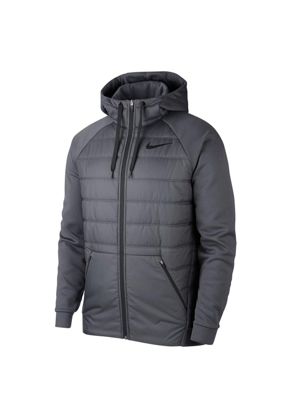 098435111 Nike Therma Full-Zip Hoodie - Vestes course pour Homme - Gris
