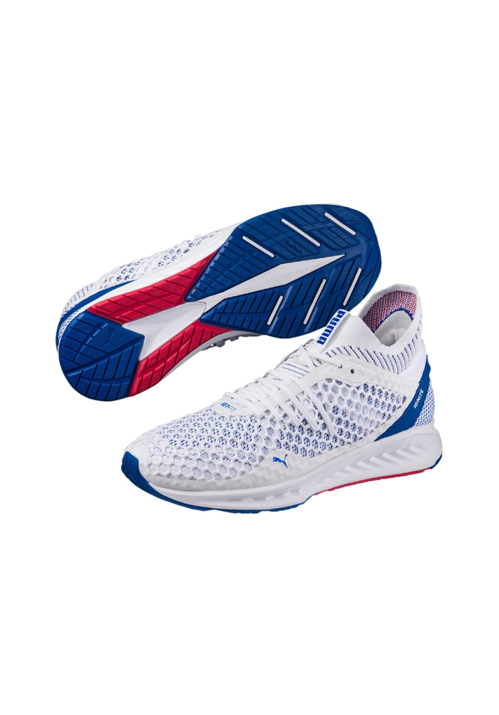 82696932b Puma IGNITE NETFIT - Running shoes for Men - White | 21RUN