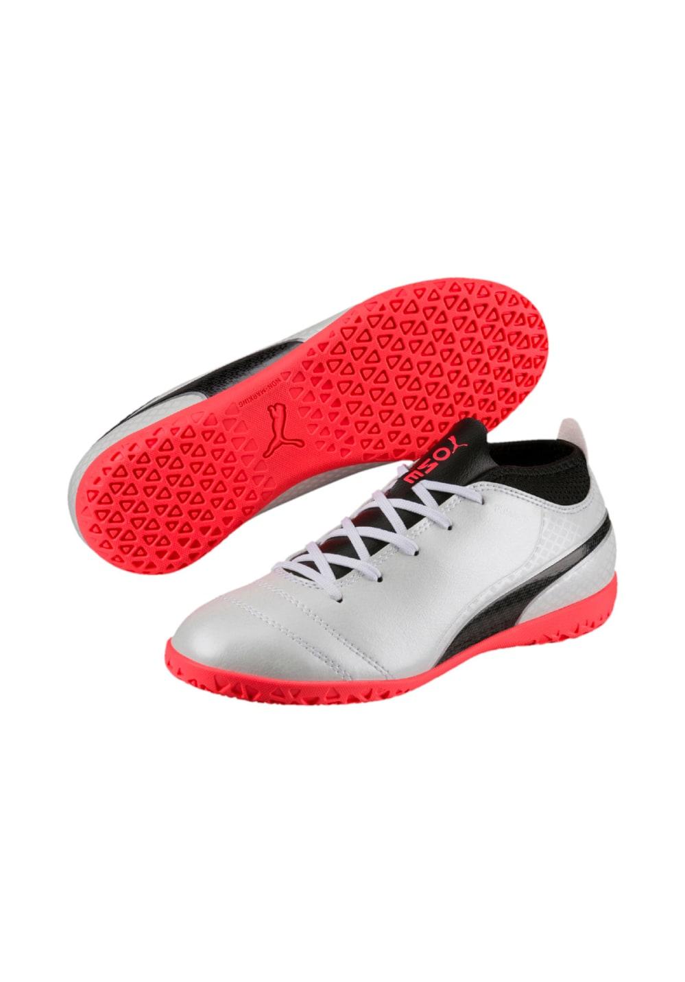 48d40cd685 Puma ONE 17.4 IT Jr - Indoor shoes - Silver