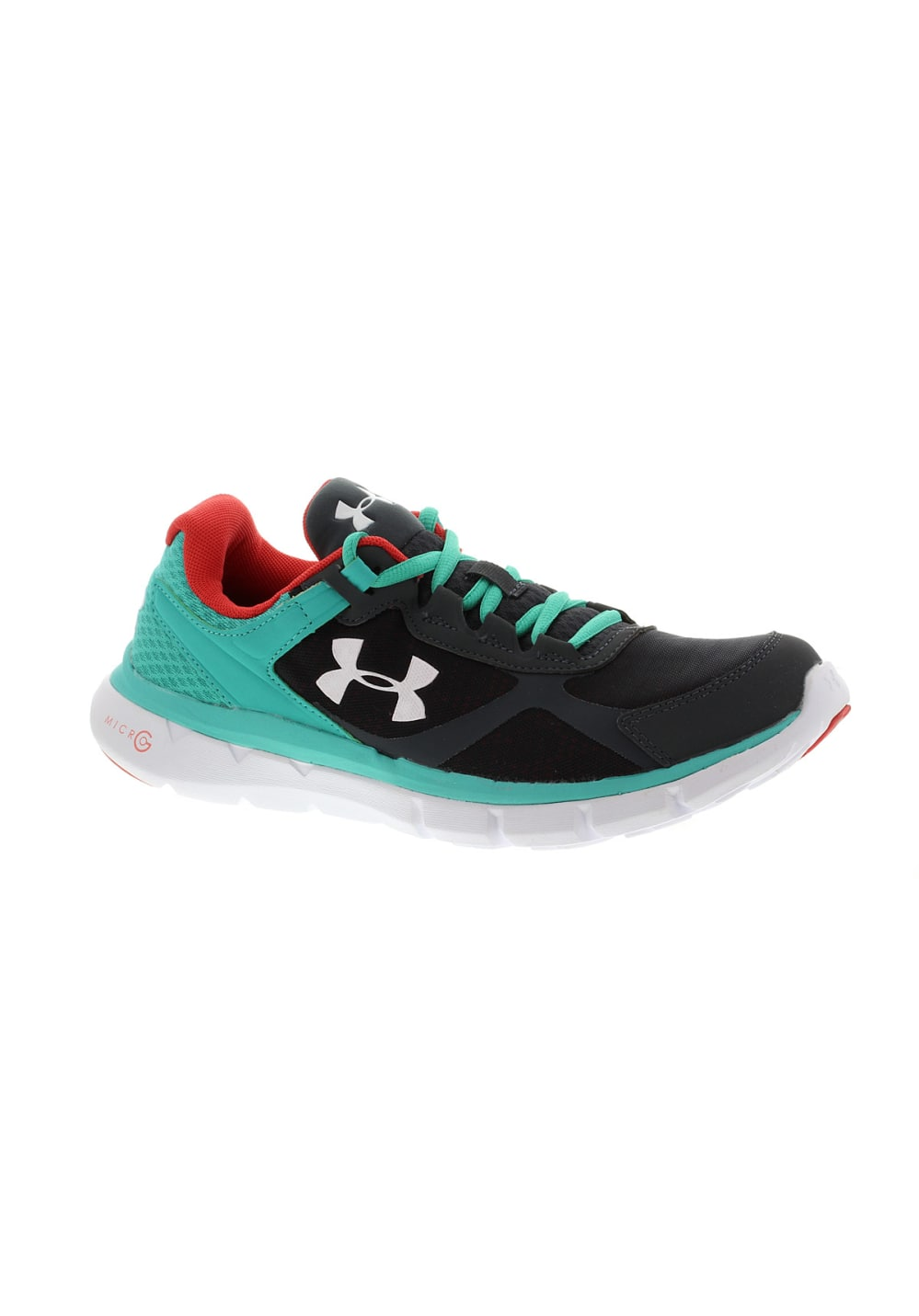 Under Armour Micro G Velocity RN - Running shoes for Women - Grey ... 958574e4ae2c